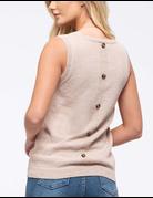 Knit Back-Button Tank