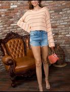 Bell Sleeve Stripe Sweater