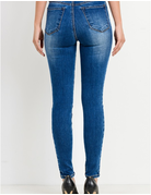 Contrast Wash Ankle Skinny