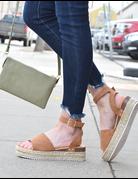 Open Toe Ankle Strap Espadrilles