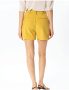 High Rise Tied Linen Shorts