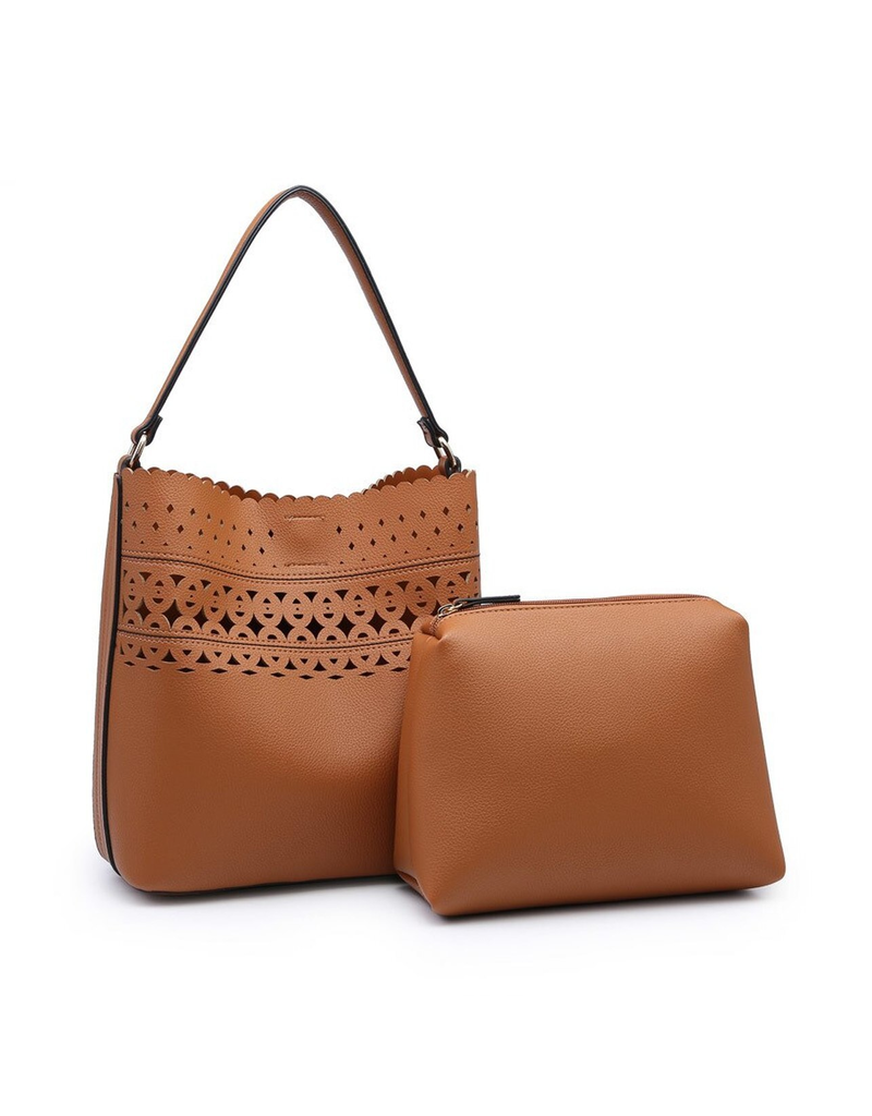 Julia Lasercut Scallop Hobo Bag
