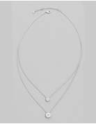 Dainty Layered Stud Pendant Necklace