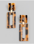 Acetate Rectangle Drop Earrings