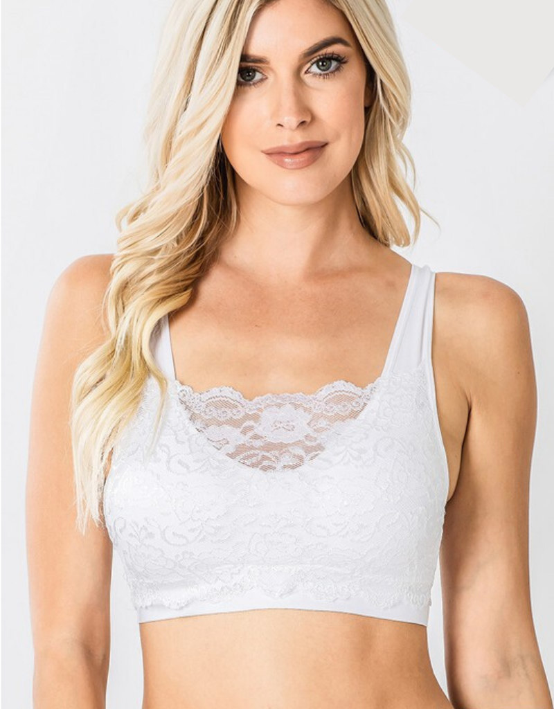 Seamless Padded Bra With Lace