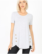 Short Sleeve Side Button Tee