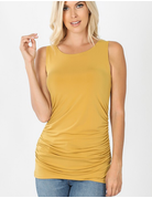 Side Ruched Sleeveless Top