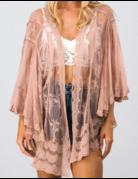 Boho Lace Layered Sleeve Cardigan