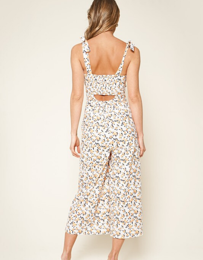 Sunday Floral Cut Out Jumpsuit