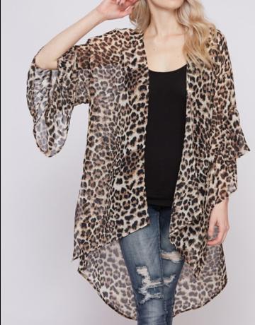Leopard Kimono With Side Slit