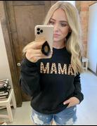 Mama Leopard Crew Neck