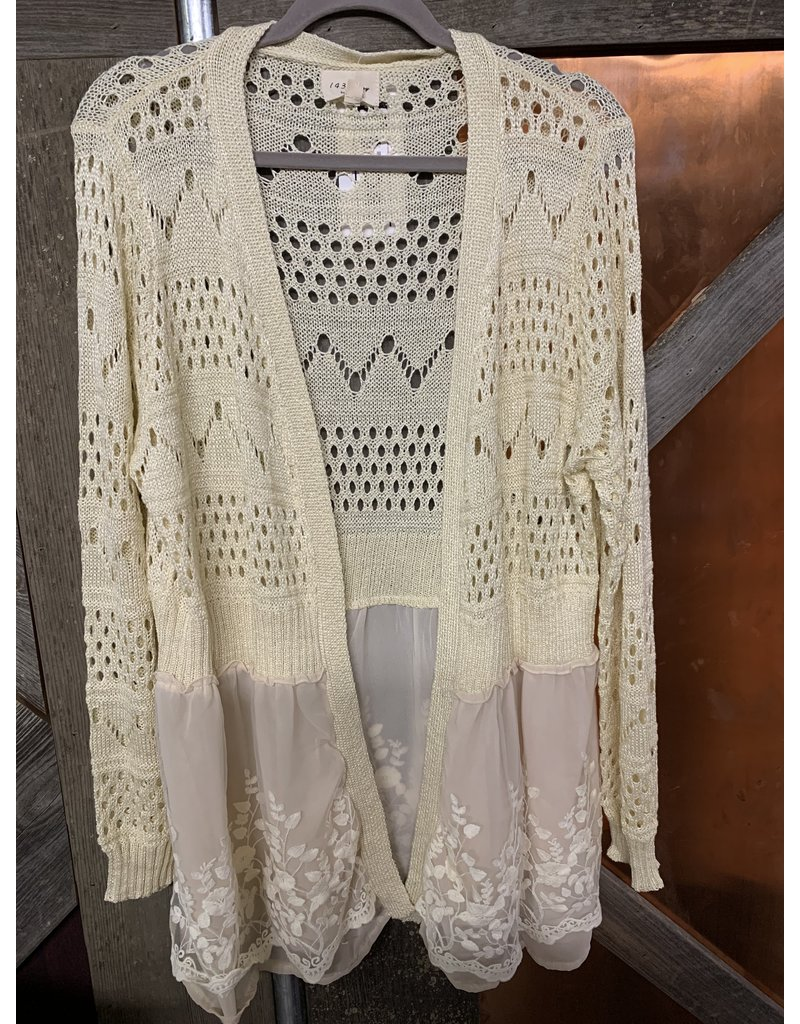 Light Weight Embroidered Cardigan