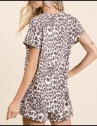 Leopard Print Criss Cross Top