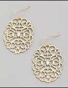 Floral Filigree Drop Earrings