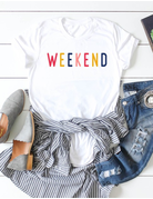 Colorful Weekend Graphic Tee