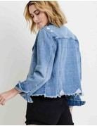 Denim Jacket with hem destruction