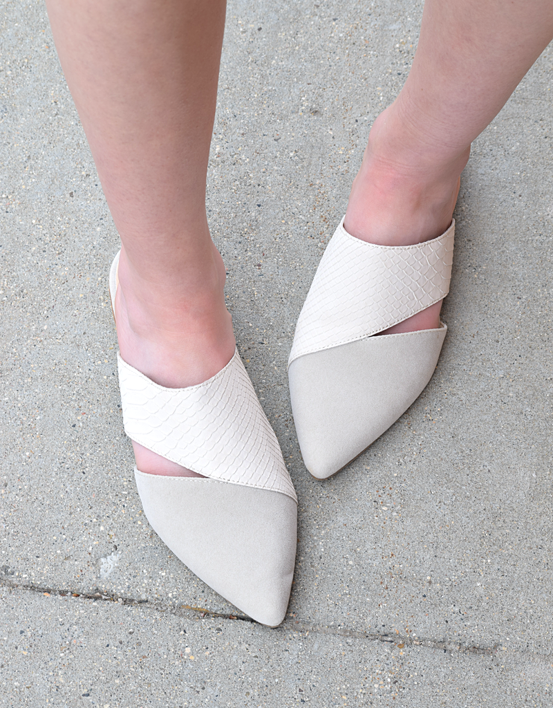 Epic 2-Tone Pointed Mules