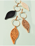 Circle Drop Feather Earring