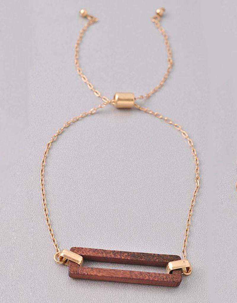 Open Wood Pull Bracelet