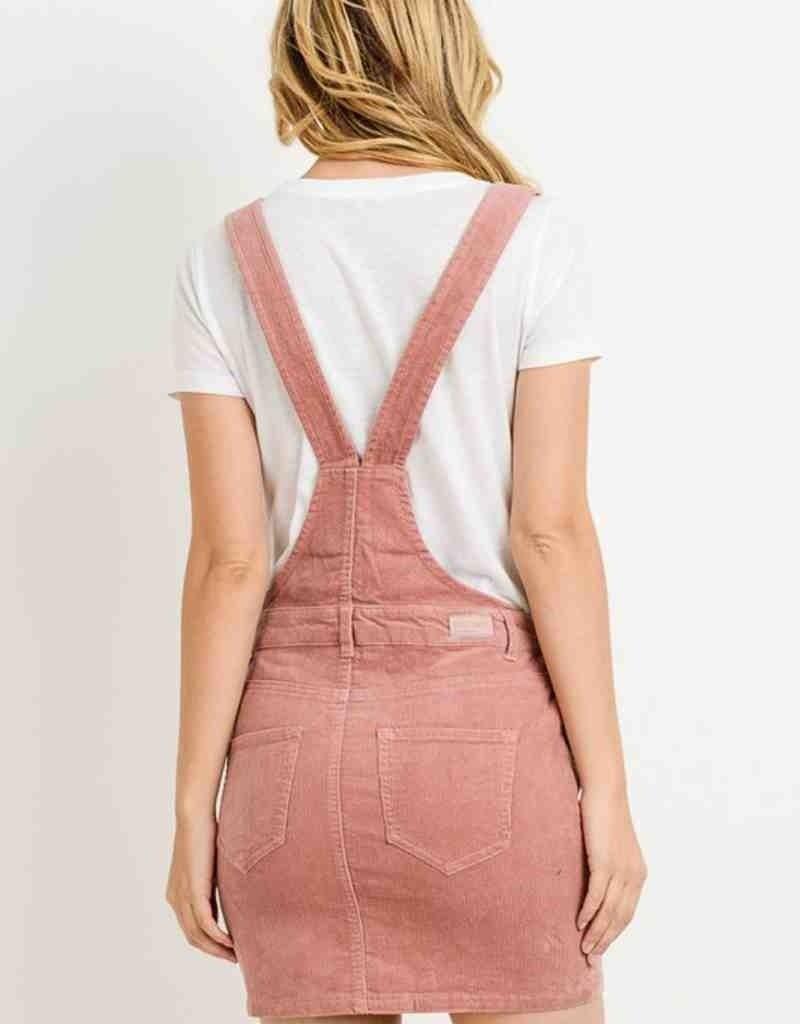 Overall Corduroy Mini Skirt