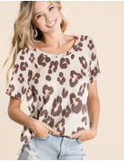Leopard Soft Knit Short Sleeve