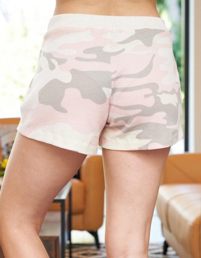 Camouflage Waffle Knit Shorts