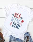 Red Wine and Blue Graphic Tee