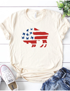 Patriotic Buffalo Graphic Tee