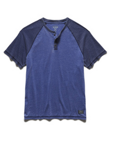 Laneburg Burnout Short Sleeve Henley