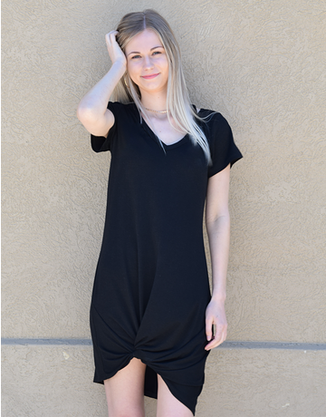 Jersey Twist T-Shirt Dress