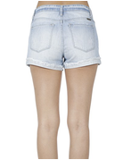Mid Rise Short With Hem Detail