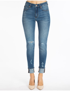 Cuffed High Rise Ankle Skinny