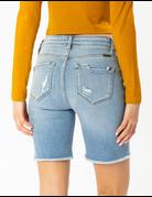 High Rise 5 Button Down Shorts