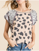 Dalmatian With Block Printed Sleeves