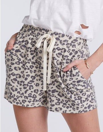 Leopard French Terry Short