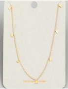 Dainty Chain Mini Triangle Necklace