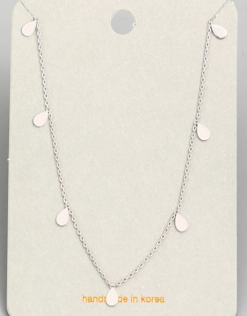 Dainty Chain Mini Teardrop Necklace