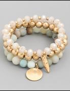 Stone Beaded Bracelet Set