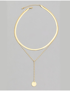 Layered Disc Choker Necklace