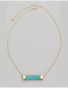 Stone Bar Charm Necklace