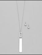 Bar Pendant Necklace Set