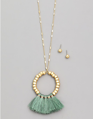 Circle Tassel Necklace