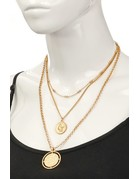Layered Coin Pendant Necklace