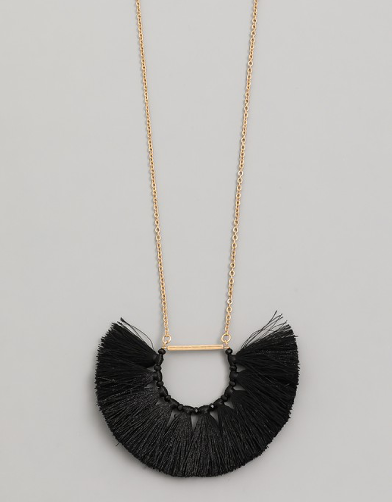Semi Circle Fan Necklace