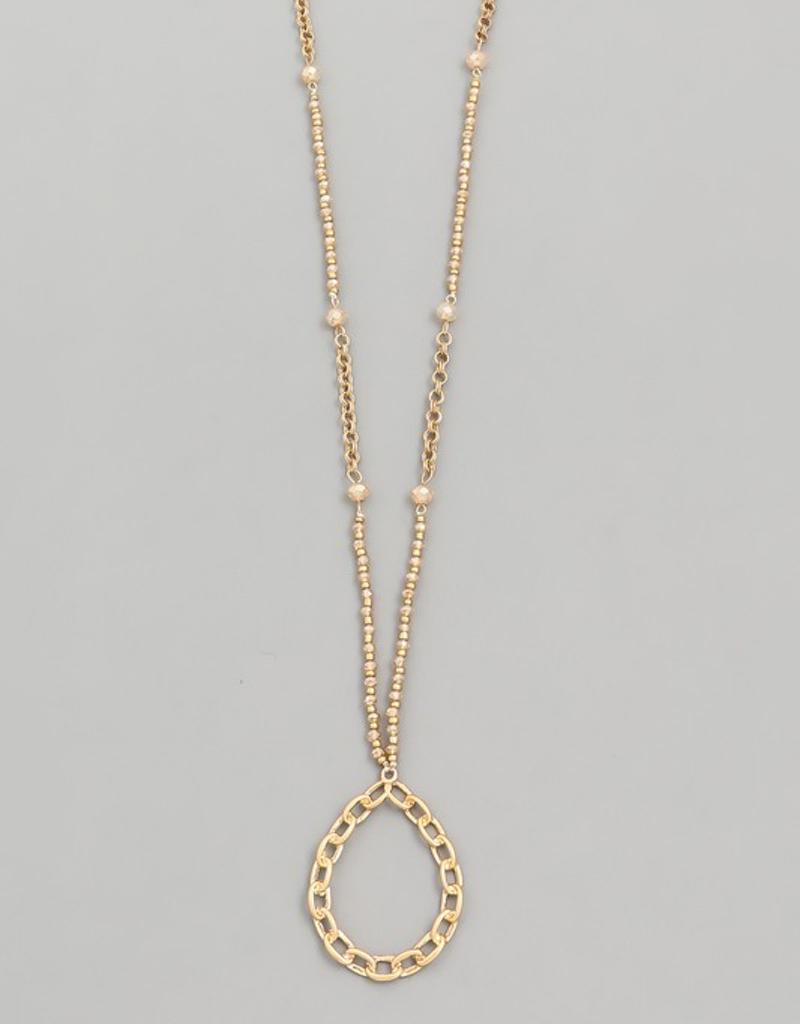 Teardrop Chain Necklace