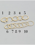 Dainty Multi Ring