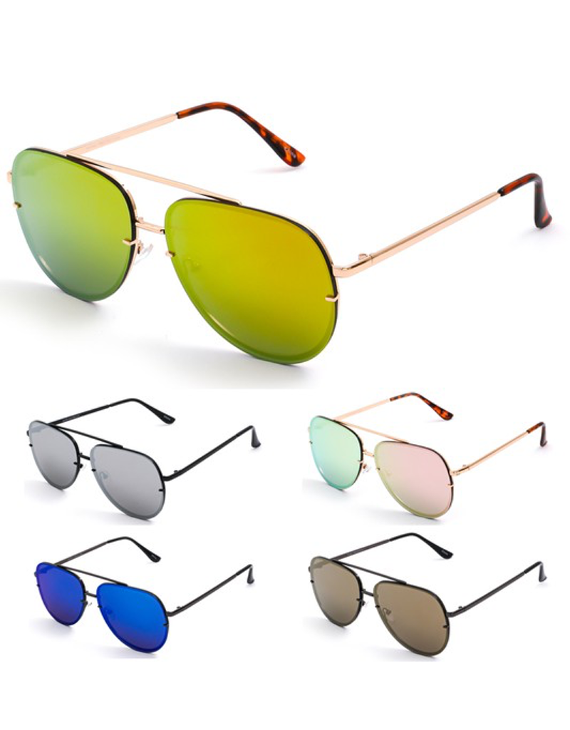 Rimless Double Bridge Sunglasses