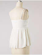Front Knot Textured Tank Top