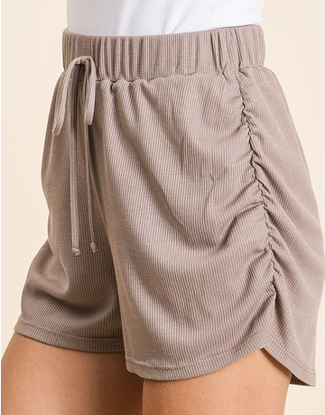Thermal Shorts With Ruched Sides