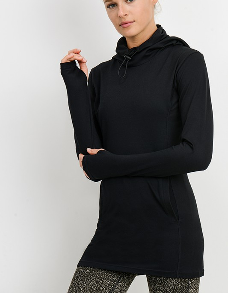 Longline Pullover with Drawstring